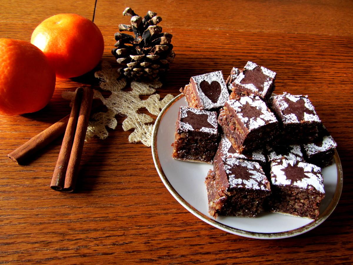 Vegane Lebkuchen Brownies