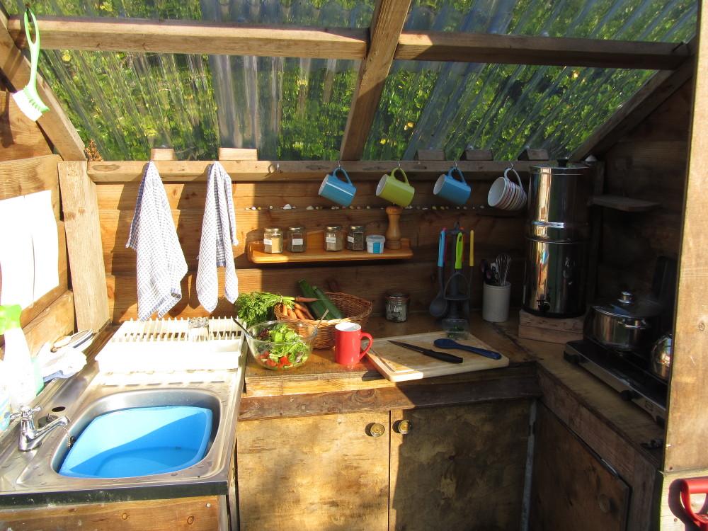 Öko-Urlaub in England - Outdoor Küche