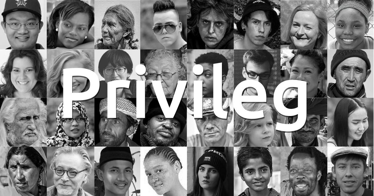 Privileg - abgebildet sind viele sehr verschiedene Menschen
